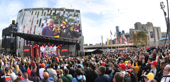 L'evento in piazza a Melbourne<br />ha aperto il weekend del GP d'Australia