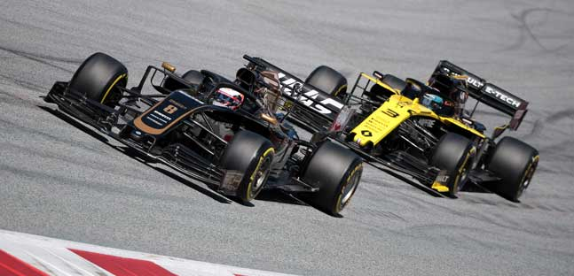 Renault e Haas con poco grip,<br />weekend deludente in Austria