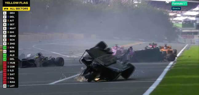 Spa - Gara 1 cancellata<br />Brutto incidente a Hubert e Correa<br />