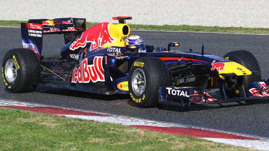Test a Barcellona - 1° giorno<br>La Red Bull scopre le carte