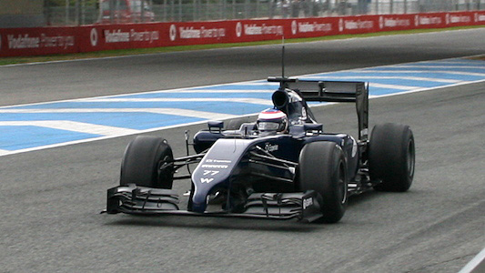 Anche la Williams FW36 in pista